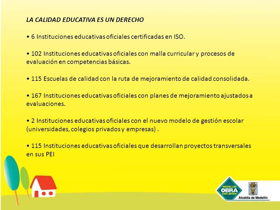 LA CALIDAD EDUCATIVA ES UN DERECHO