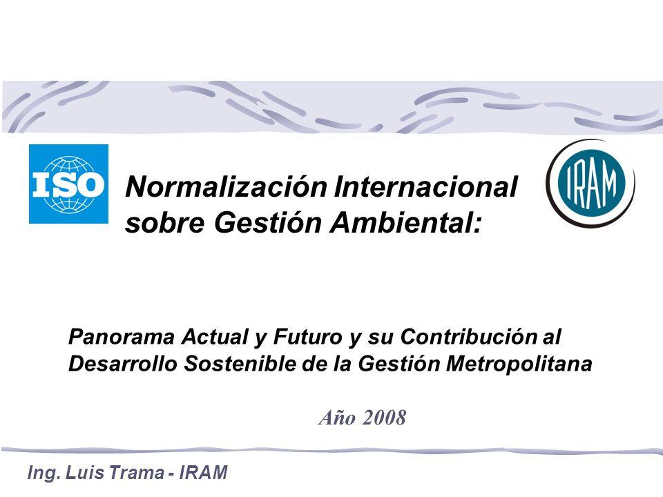 Normalización Internacional sobre Gestión Ambiental: