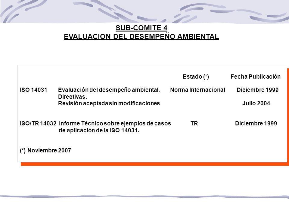 EVALUACION DEL DESEMPEÑO AMBIENTAL
