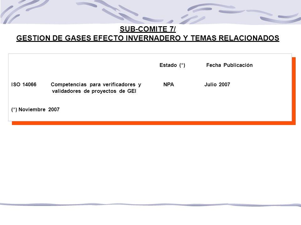GESTION DE GASES EFECTO INVERNADERO Y TEMAS RELACIONADOS