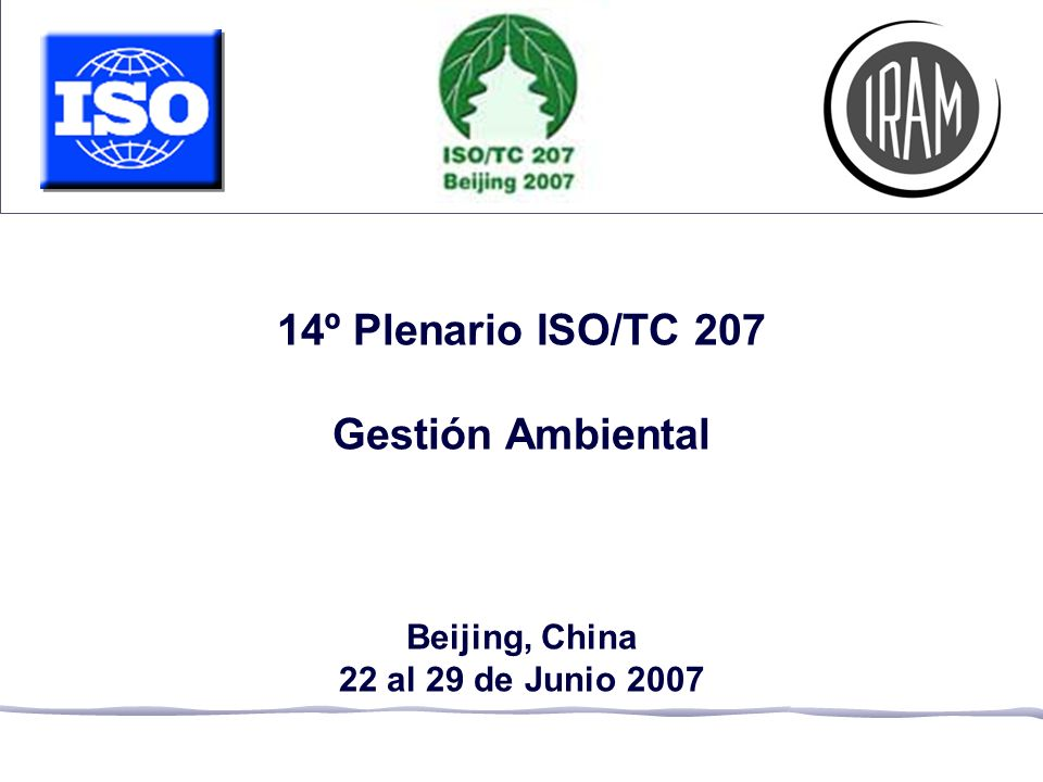 14º Plenario ISO/TC 207 Gestión Ambiental