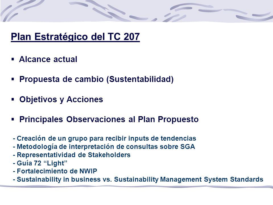 Plan Estratégico del TC 207