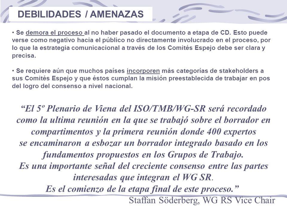 DEBILIDADES / AMENAZAS