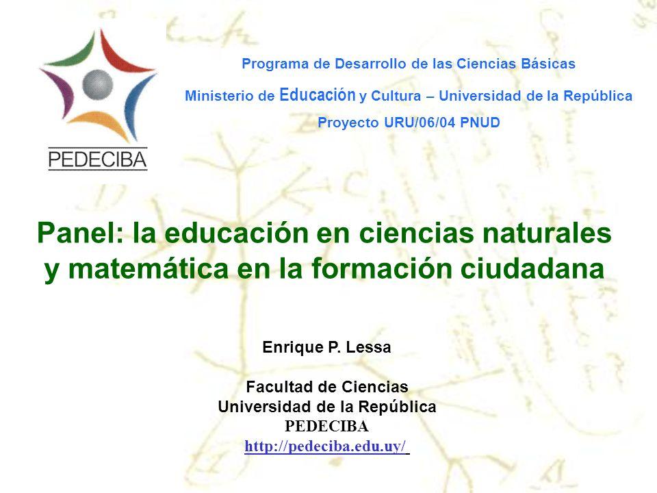 Panel: la educación en ciencias naturales