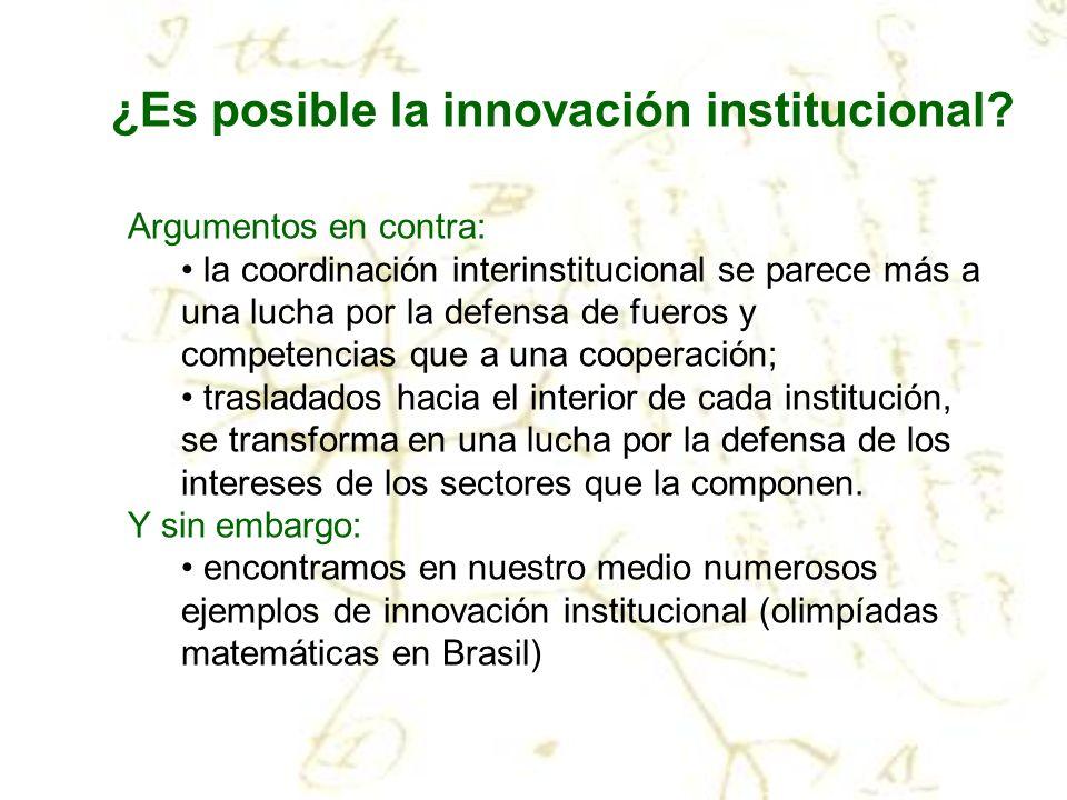 ¿Es posible la innovación institucional
