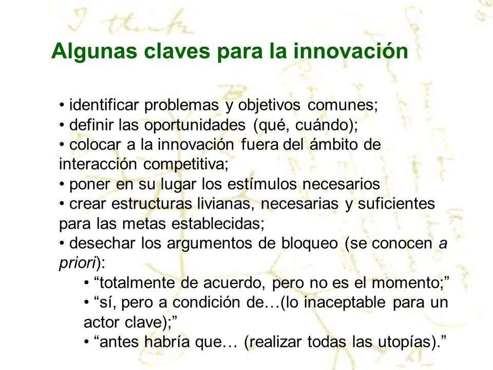 Algunas claves para la innovación