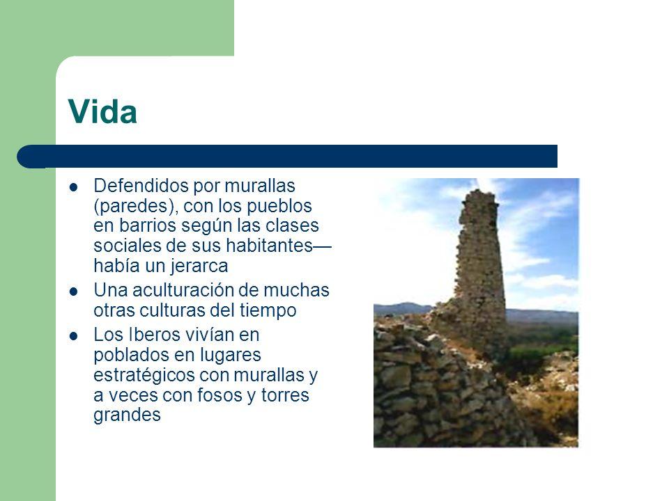 Vida Defendidos por murallas (paredes), con los pueblos en barrios según las clases sociales de sus habitantes—había un jerarca.