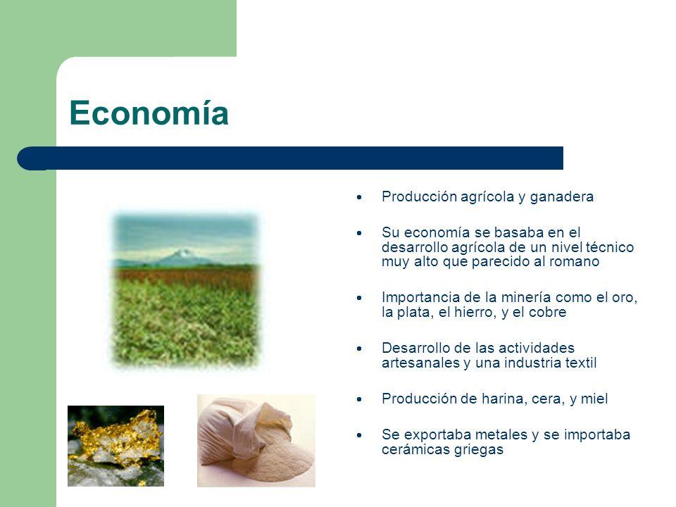 Economía Producción agrícola y ganadera