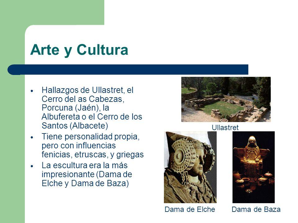 Arte y Cultura Hallazgos de Ullastret, el Cerro del as Cabezas, Porcuna (Jaén), la Albufereta o el Cerro de los Santos (Albacete)