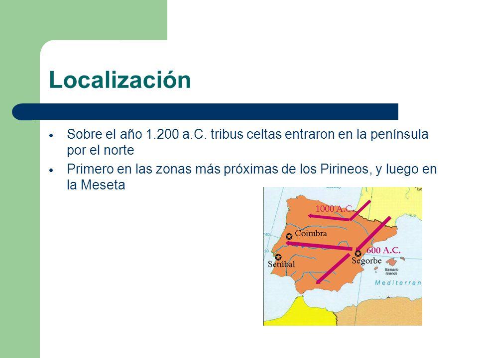 Localización Sobre el año 1.200 a.C. tribus celtas entraron en la península por el norte.