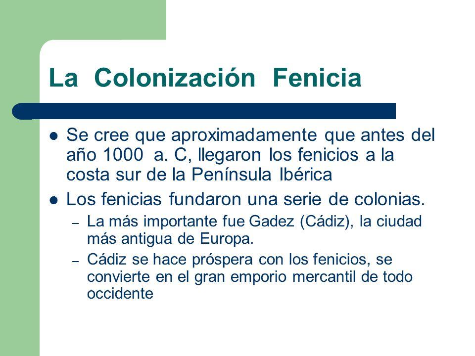La Colonización Fenicia