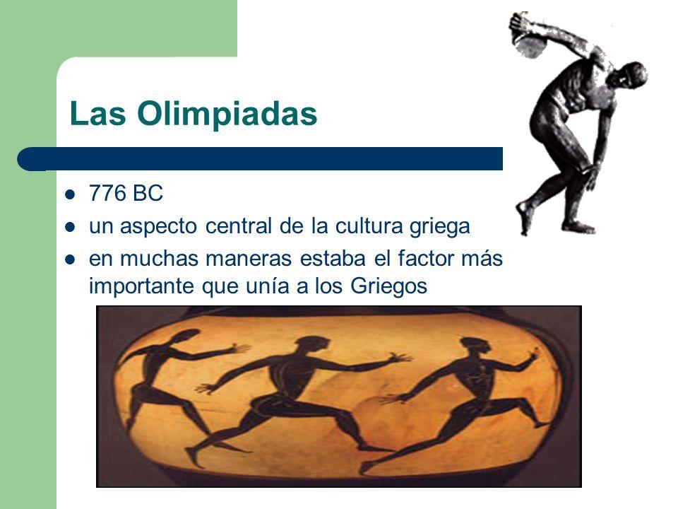 Las Olimpiadas 776 BC un aspecto central de la cultura griega