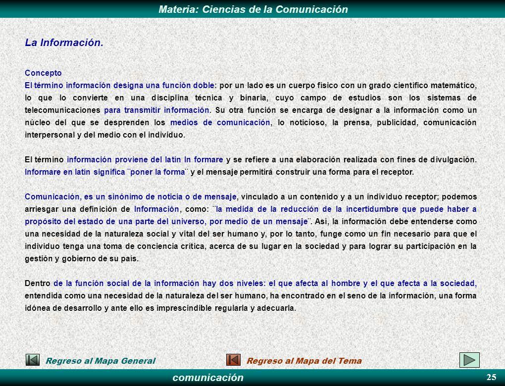 La Información. 25 Concepto