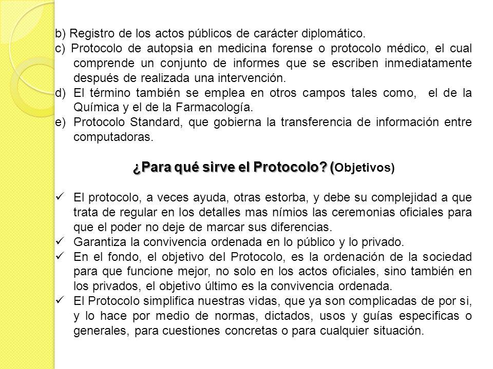 ¿Para qué sirve el Protocolo (Objetivos)