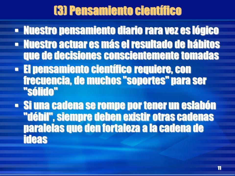 (3) Pensamiento científico