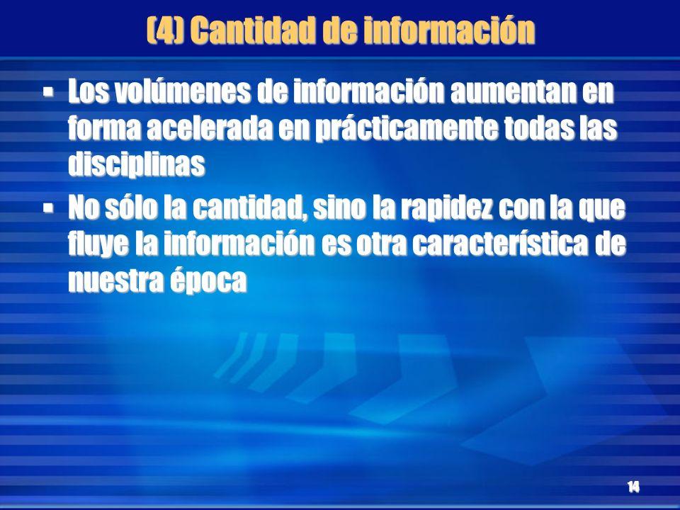 (4) Cantidad de información