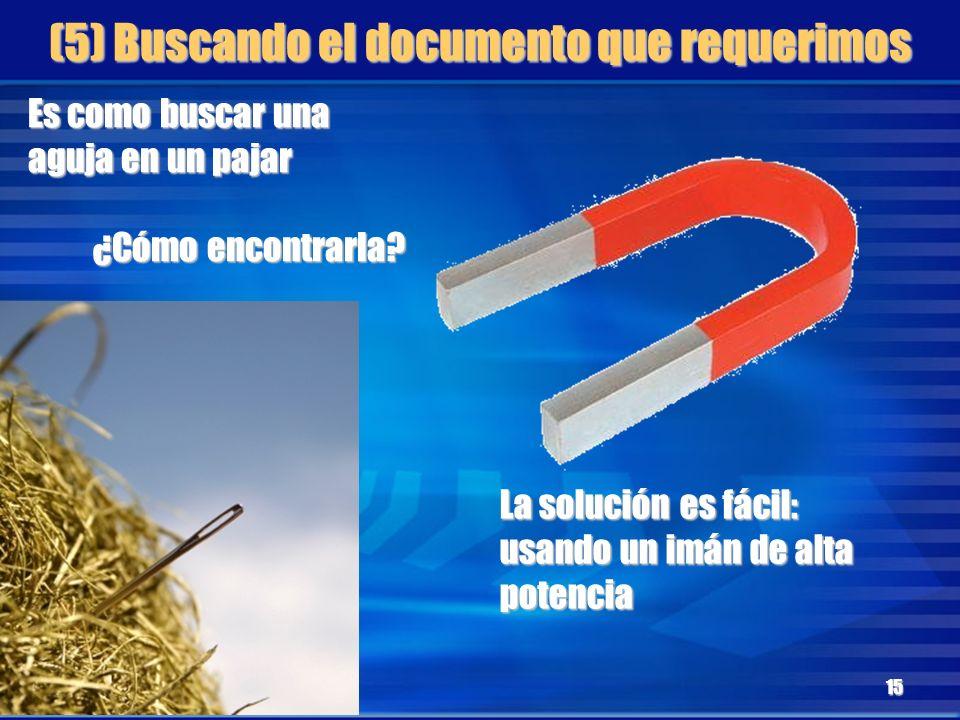 (5) Buscando el documento que requerimos