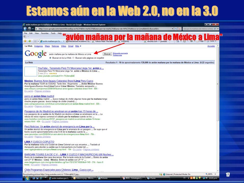 Estamos aún en la Web 2.0, no en la 3.0
