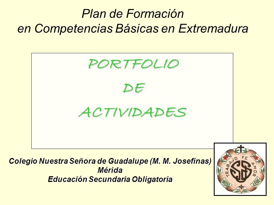 Plan de Formación en Competencias Básicas en Extremadura