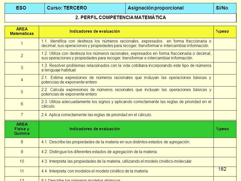 2. PERFIL COMPETENCIA MATEMÁTICA