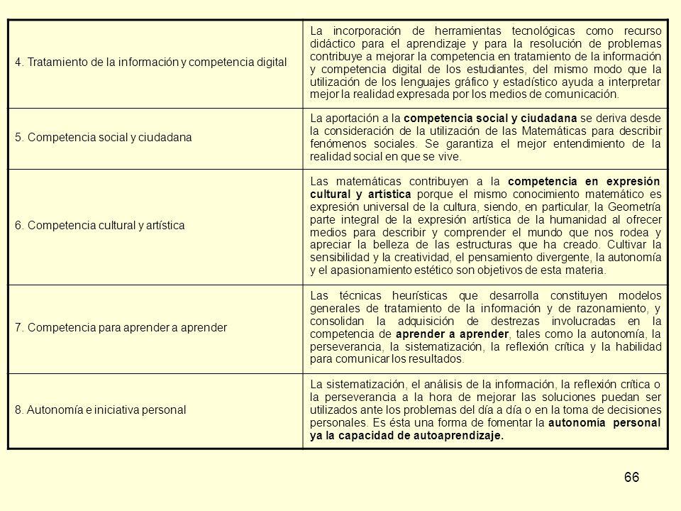 4. Tratamiento de la información y competencia digital
