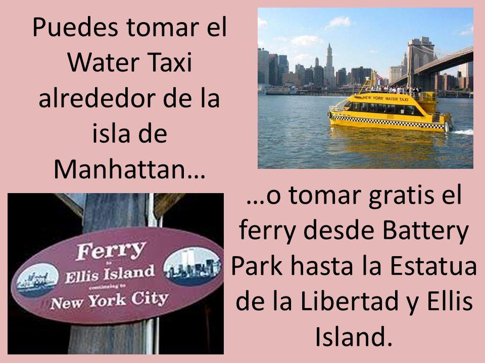 Puedes tomar el Water Taxi alrededor de la isla de Manhattan…