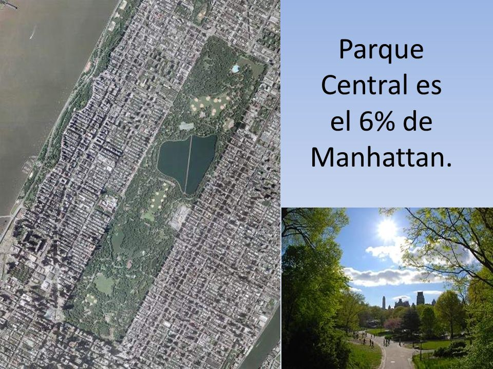 Parque Central es el 6% de Manhattan.