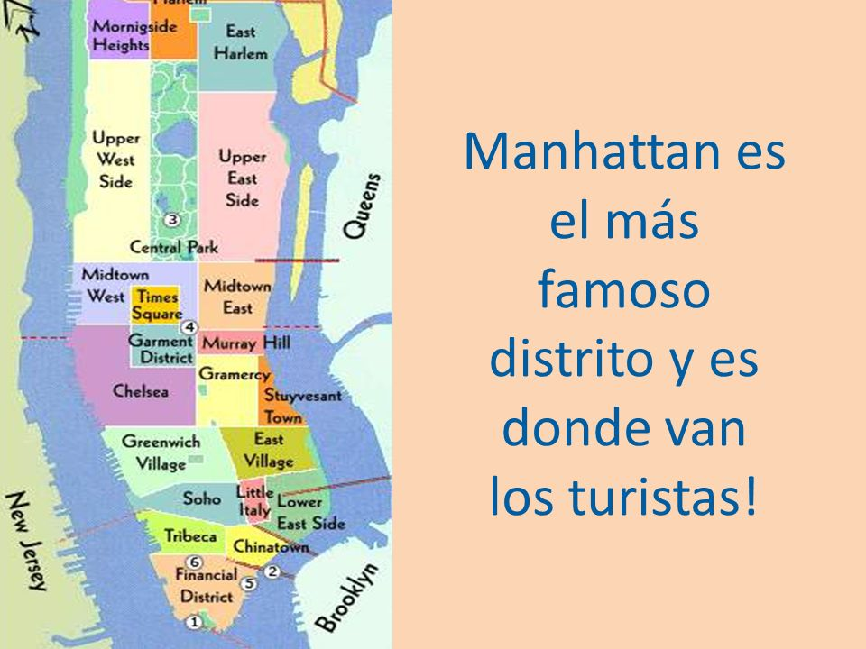 Manhattan es el más famoso distrito y es donde van los turistas!