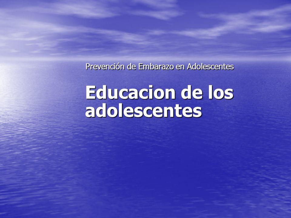 Educacion de los adolescentes