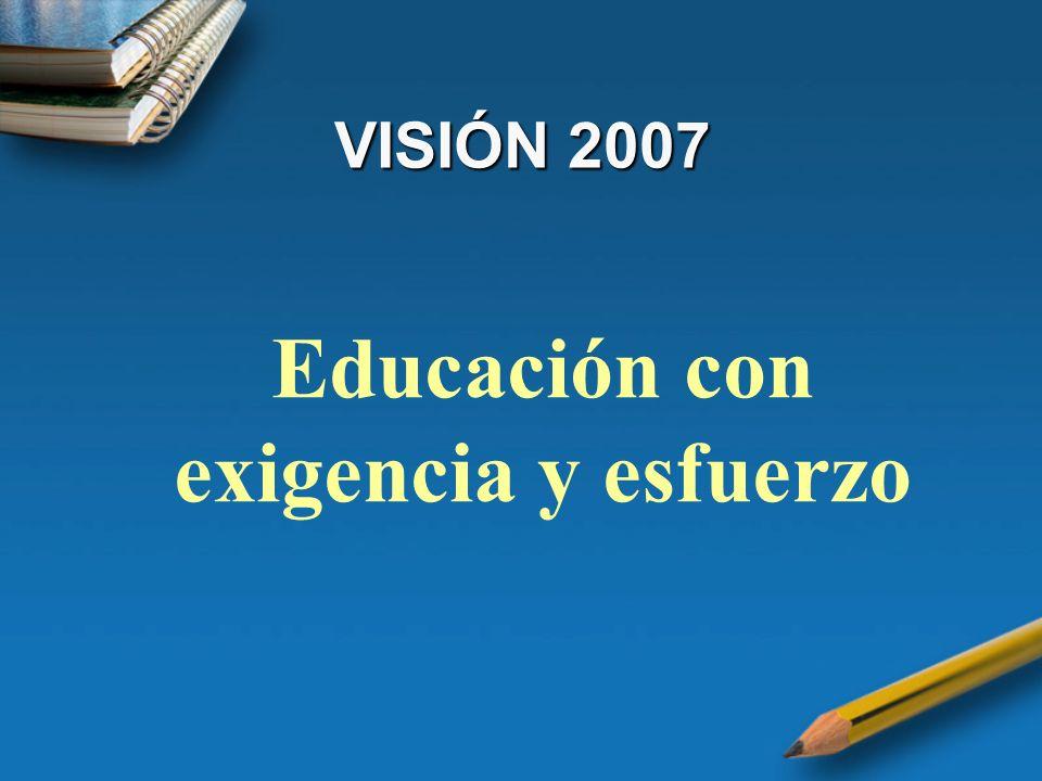 Educación con exigencia y esfuerzo