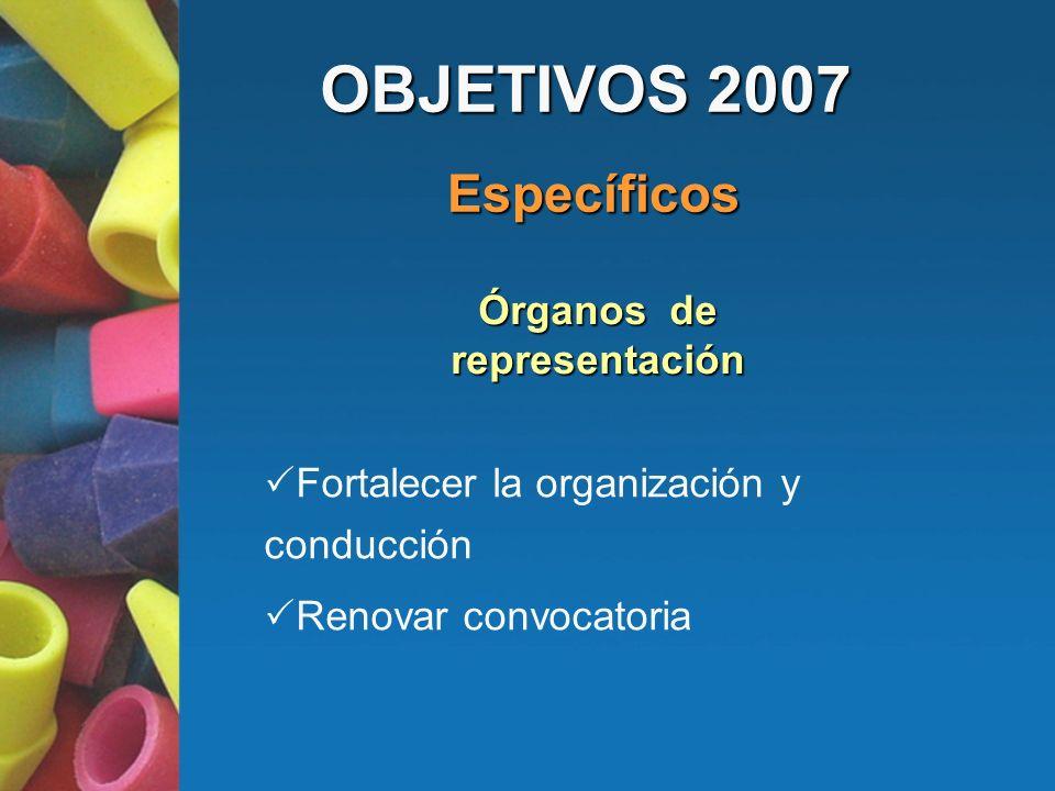 Fortalecer la organización y conducción Renovar convocatoria