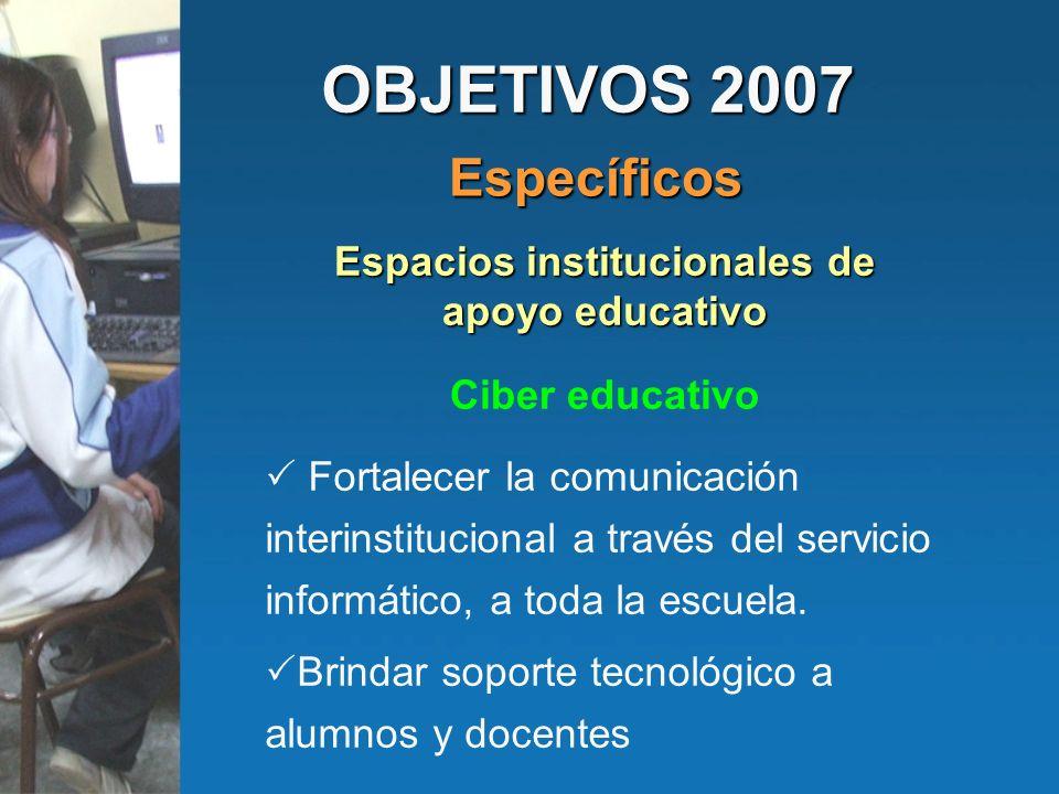 Espacios institucionales de apoyo educativo