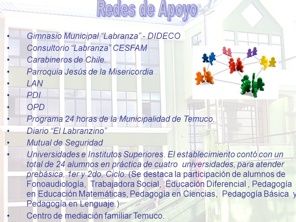 Redes de Apoyo Gimnasio Municipal Labranza - DIDECO