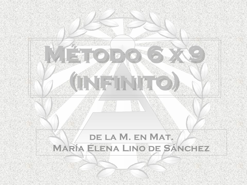 de la M. en Mat. María Elena Lino de Sánchez