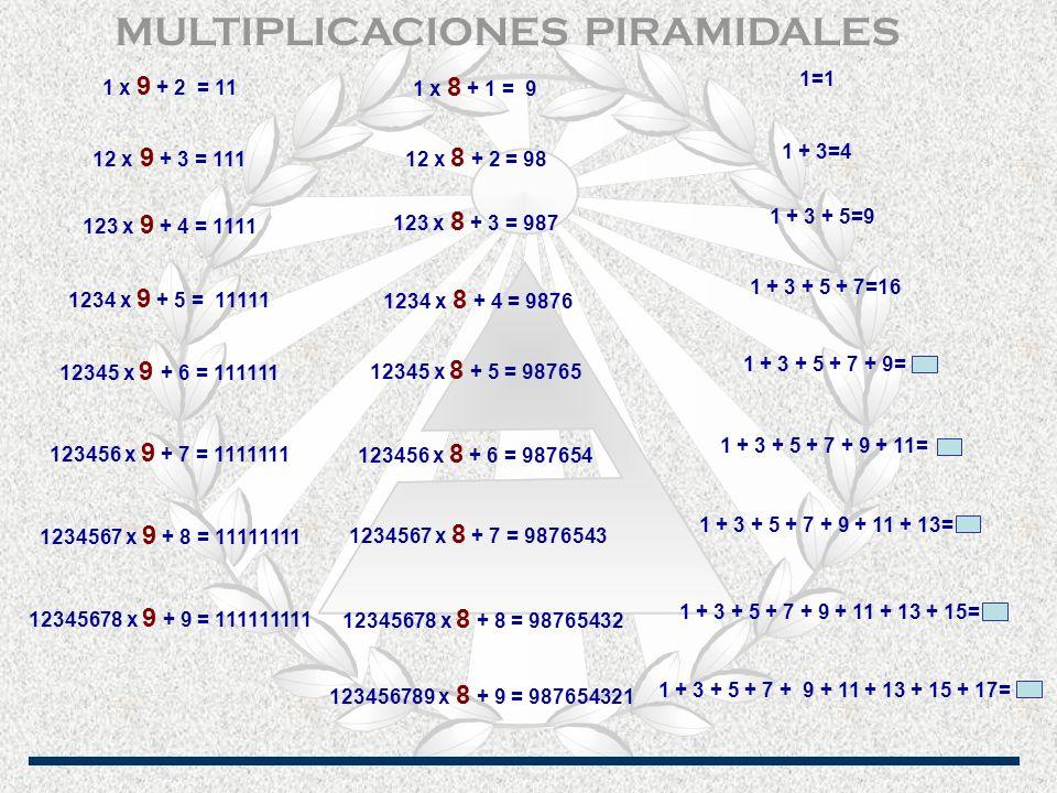 MULTIPLICACIONES PIRAMIDALES