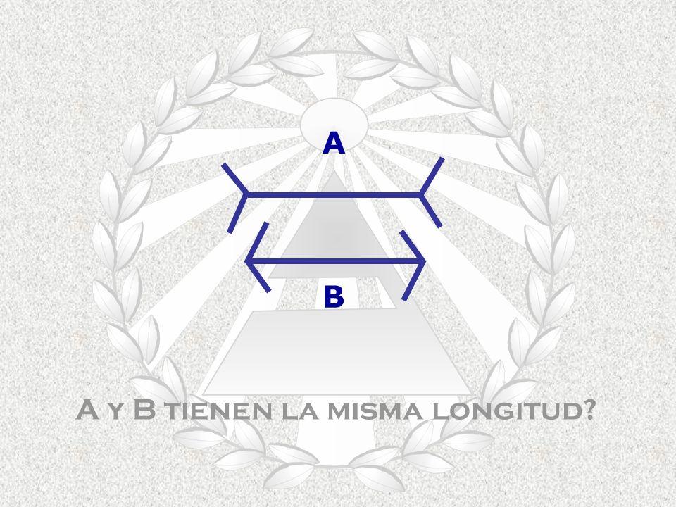 A y B tienen la misma longitud