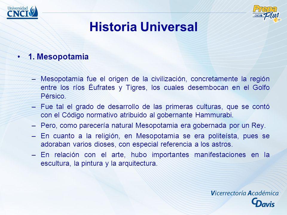 Historia Universal 1. Mesopotamia