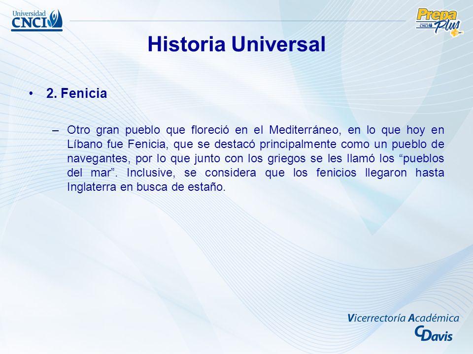 Historia Universal 2. Fenicia
