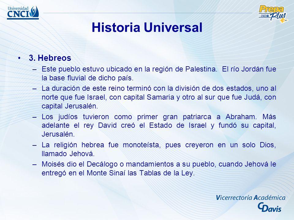 Historia Universal 3. Hebreos