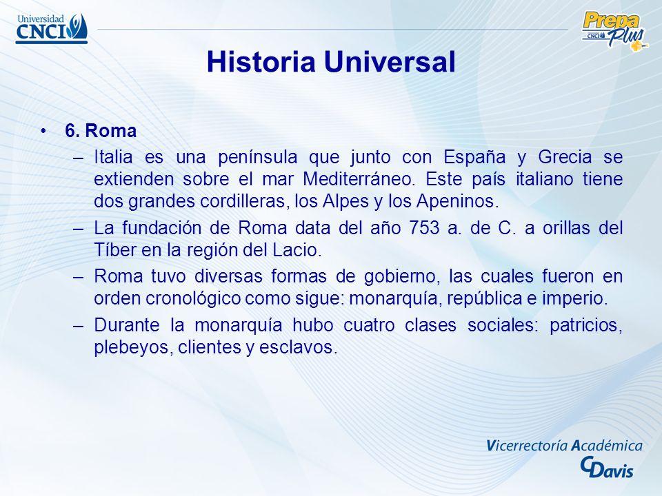 Historia Universal 6. Roma