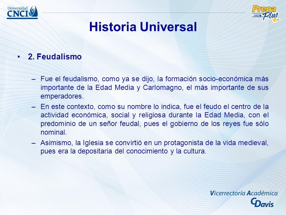Historia Universal 2. Feudalismo