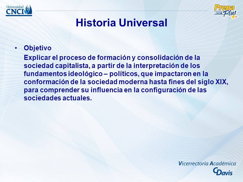 Historia Universal Objetivo
