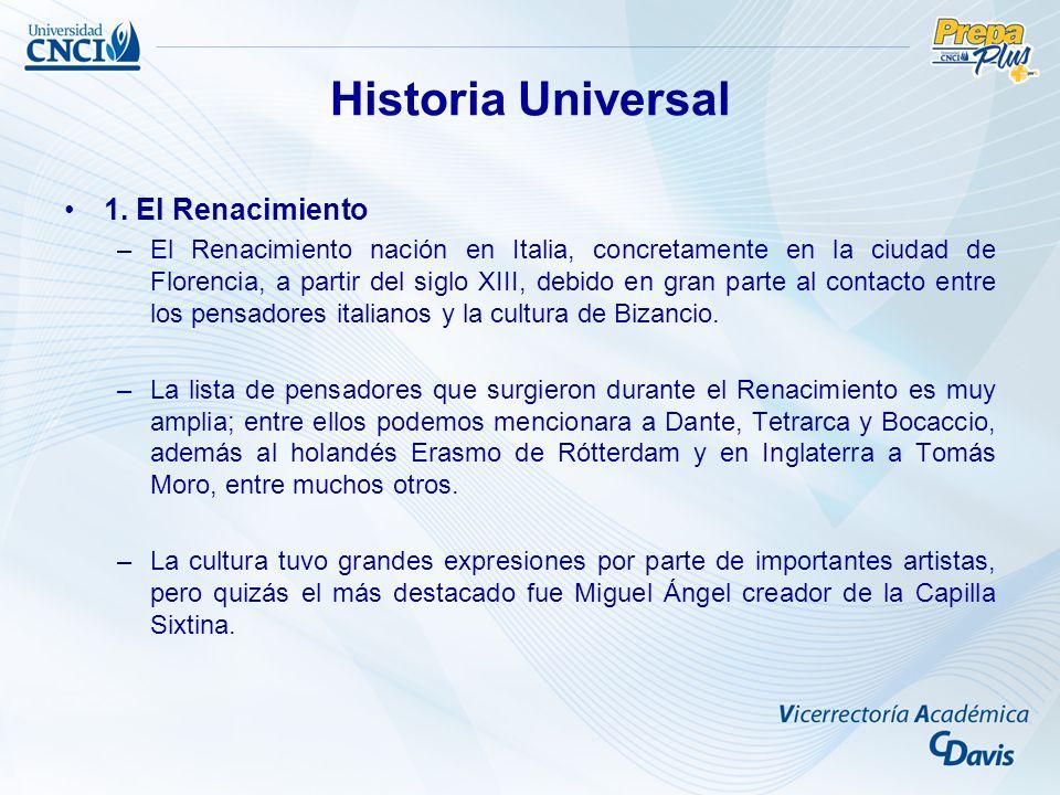 Historia Universal 1. El Renacimiento