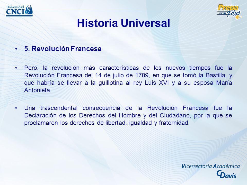 Historia Universal 5. Revolución Francesa