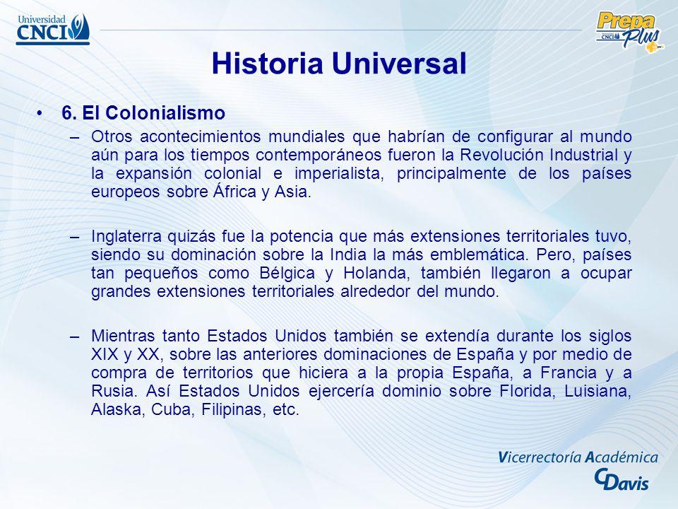 Historia Universal 6. El Colonialismo