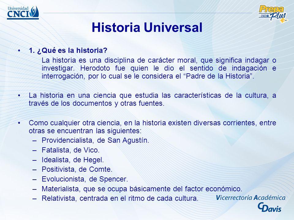 Historia Universal 1. ¿Qué es la historia