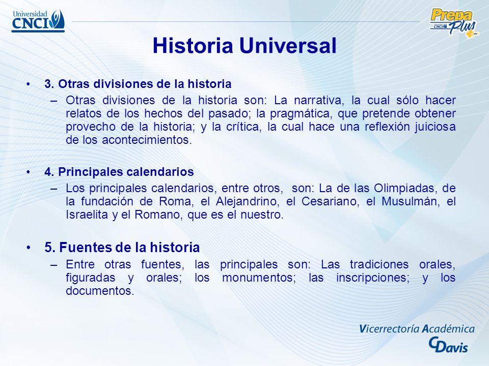 Historia Universal 5. Fuentes de la historia