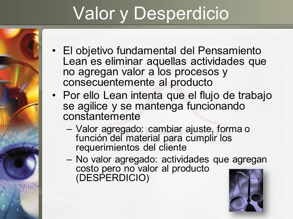 Valor y Desperdicio