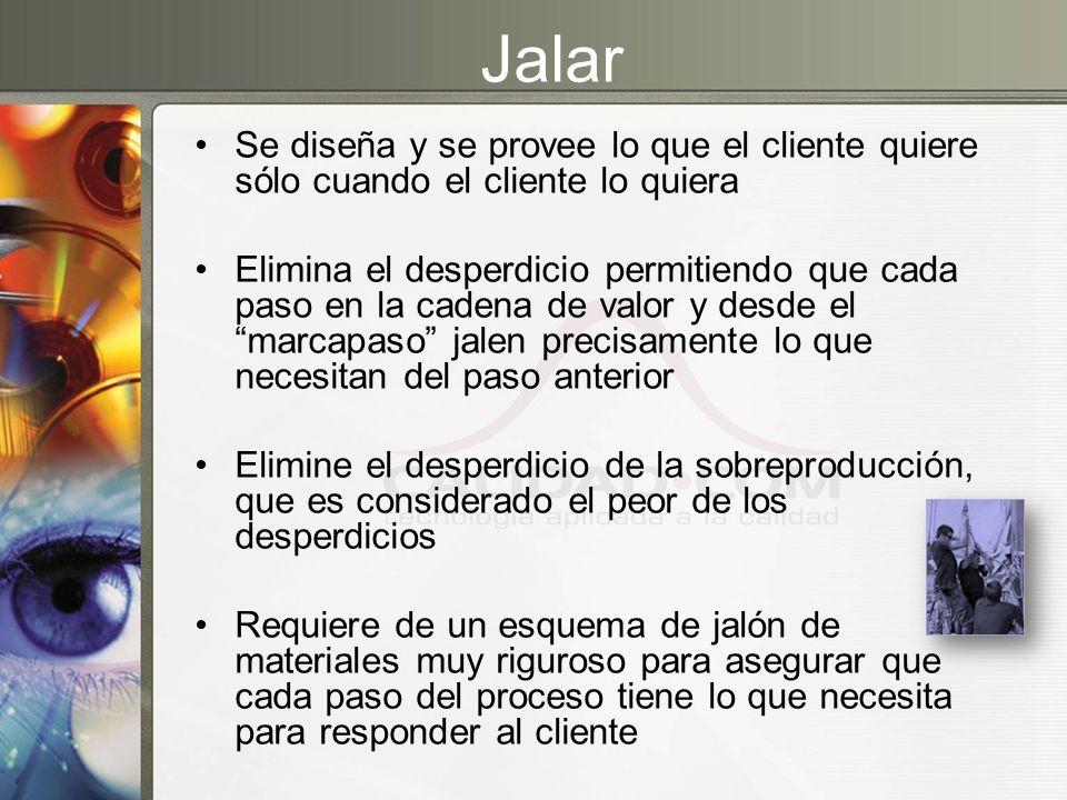 Jalar Se diseña y se provee lo que el cliente quiere sólo cuando el cliente lo quiera.