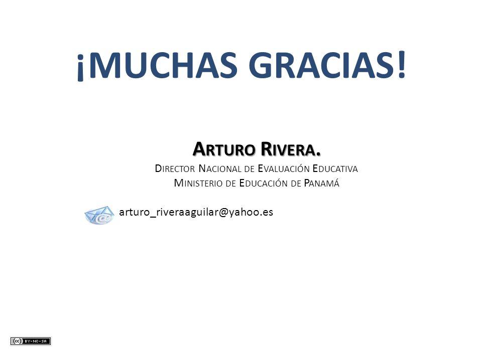 ¡MUCHAS GRACIAS! Arturo Rivera.